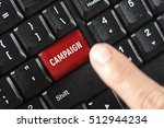 Small photo of campaign word on red keyboard button