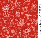 christmas seamless with... | Shutterstock .eps vector #512945410