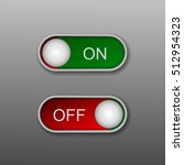 toggle switch vector icon  on...