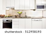 modern kitchen interior ... | Shutterstock . vector #512958193