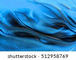 closeup of the wavy organza... | Shutterstock . vector #512958769