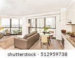 modern room view near kitchen... | Shutterstock . vector #512959738