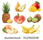 sweet fruit. banana  pineapple  ... | Shutterstock .eps vector #512960548