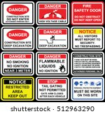 danger restriction signage like ... | Shutterstock .eps vector #512963290