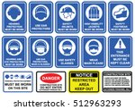 blue mandatory set of safety... | Shutterstock .eps vector #512963293