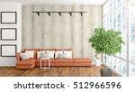 modern bright interior . 3d... | Shutterstock . vector #512966596