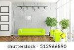 modern bright interior . 3d... | Shutterstock . vector #512966890