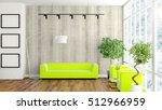 modern bright interior . 3d... | Shutterstock . vector #512966959