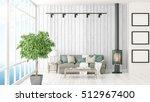 modern bright interior . 3d... | Shutterstock . vector #512967400