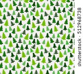 seamless pattern with green... | Shutterstock .eps vector #512968738