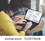 web design domain seo words | Shutterstock . vector #512973658