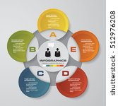 design clean 5 steps template... | Shutterstock .eps vector #512976208