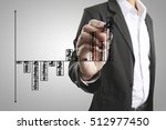 businessman drawing graphics ... | Shutterstock . vector #512977450