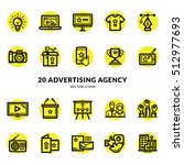 advertising agency icon set | Shutterstock .eps vector #512977693