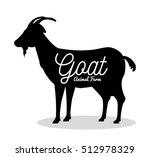 goat animal farm icon | Shutterstock .eps vector #512978329