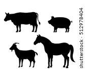 animals farm domestic icon   Shutterstock .eps vector #512978404