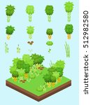 bamboo at various stages set... | Shutterstock .eps vector #512982580