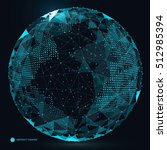 world map point  line ... | Shutterstock .eps vector #512985394
