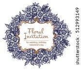 romantic invitation. wedding ... | Shutterstock . vector #512993149