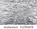 silver rough wrinkle foil... | Shutterstock . vector #512996878