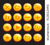 set of yellow  orange glossy... | Shutterstock .eps vector #513012493