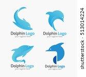 dolphin logo and emblem design... | Shutterstock .eps vector #513014224