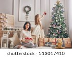 merry christmas and happy... | Shutterstock . vector #513017410