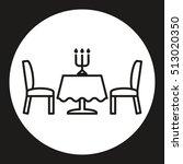 dinner table icon. line style... | Shutterstock .eps vector #513020350