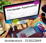 mortgage application home loan... | Shutterstock . vector #513022849