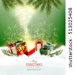 christmas holiday background... | Shutterstock .eps vector #513025408