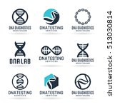 vector dna signs  biotech icons ... | Shutterstock .eps vector #513030814