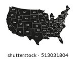 usa map | Shutterstock .eps vector #513031804