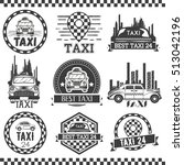 taxi company labels in vintage... | Shutterstock . vector #513042196