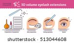 vector illustrated set with... | Shutterstock .eps vector #513044608