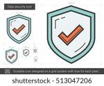 data security vector line icon...   Shutterstock .eps vector #513047206