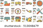 ecology vector line icon set... | Shutterstock .eps vector #513048679