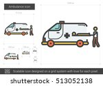 ambulance vector line icon... | Shutterstock .eps vector #513052138