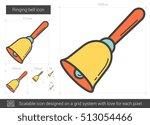 ringing bell vector line icon...   Shutterstock .eps vector #513054466