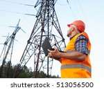 electrical engineer working.... | Shutterstock . vector #513056500