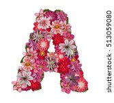Letter A Red Flowers Alphabet