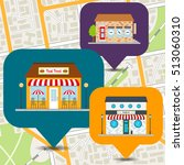 seafood restaurant  barbershop  ... | Shutterstock .eps vector #513060310