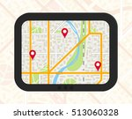 gps navigator with generic city ... | Shutterstock .eps vector #513060328