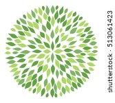 Green Leaves Art Mandala Circle....
