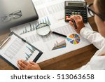 analyzing financial data and... | Shutterstock . vector #513063658