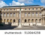Small photo of PARIS, FRANCE, APRIL 25 2016. Ecole des Beaux-Arts. It is made up of a complex of buildings located at 14 rue Bonaparte, between the quai Malaquais and the rue Bonaparte