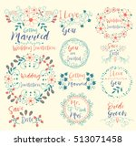 wedding invitation.save date.i... | Shutterstock .eps vector #513071458