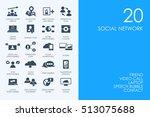 set of blue hamster library... | Shutterstock .eps vector #513075688