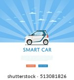 city car isolated on rays... | Shutterstock .eps vector #513081826