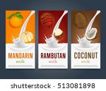 milkshake concept with milk... | Shutterstock .eps vector #513081898