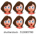 female avatar vector character. ... | Shutterstock .eps vector #513085780